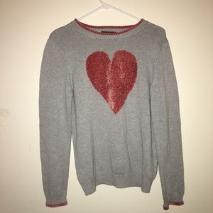 525 America brand gray and pink sweater